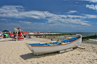 Photograph - Cape May N J Rescue Boat 3 by Allen Beatty