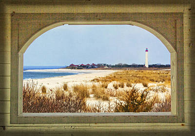 Photograph - Cape May Point Through A Pavilion Window by Carolyn Derstine
