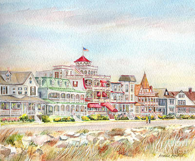 Promenades Painting - Cape May Promenade Cape May New Jersey by Pamela Parsons