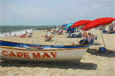 Photograph - Cape May Rescue Boat 4 - Digital Painting by Allen Beatty