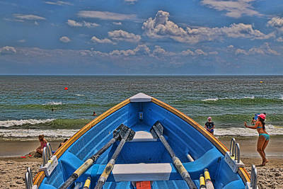 Photograph - Cape May N J Rescue Boat 2 by Allen Beatty