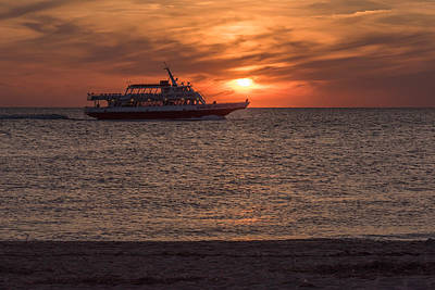 Photograph - Cape May Sunset Beach Whale Watcher by Terry DeLuco