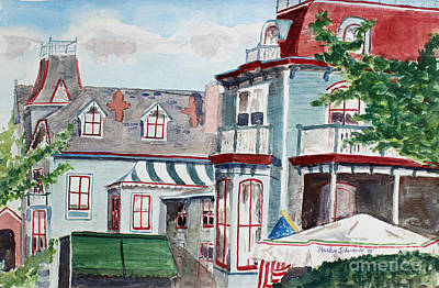 Painting - Cape May Victorian by Marlene Schwartz Massey