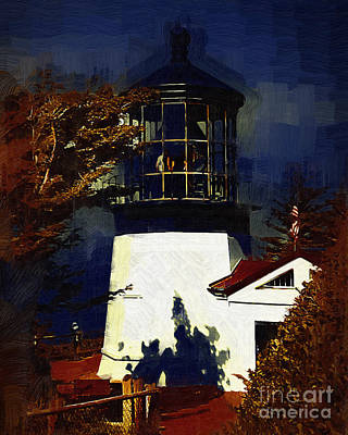 Digital Art - Cape Meares Lighthouse In Gothic by Kirt Tisdale