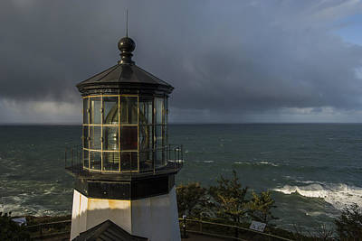 Photograph - Cape Meares Lighthouse View by Robert Potts