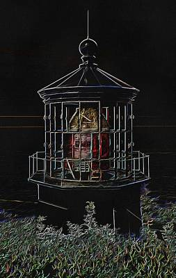 Photograph - Cape Meares Neon Lighthouse by Thom Zehrfeld