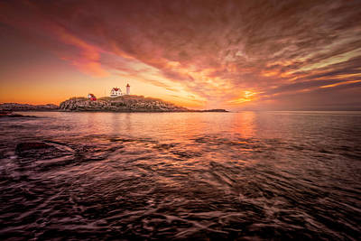 Photograph - Cape Neddick Light - At Dawn by Thomas Gaitley