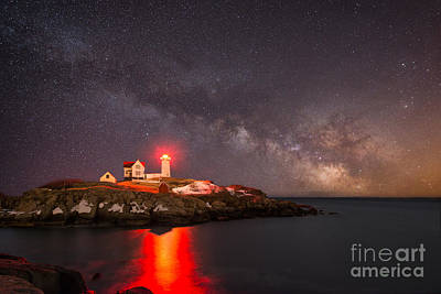 Cape Neddick Light Milky Way Art Print