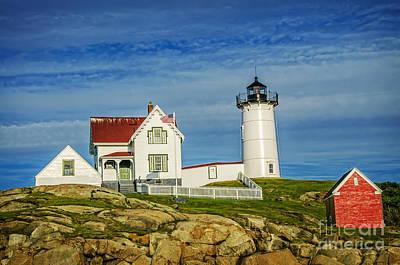 Cape Neddick Lighthouse Art Print by Charles Dobbs