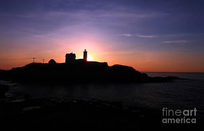 Cape Neddick Light Station Photograph - Cape Neddick Lighthouse by Jim Beckwith