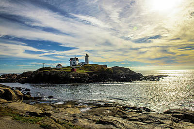 Cape Neddick Lighthouse Art Print by Sherman Perry