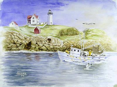Cape Neddick Lighthouse Print by Stephen Serina