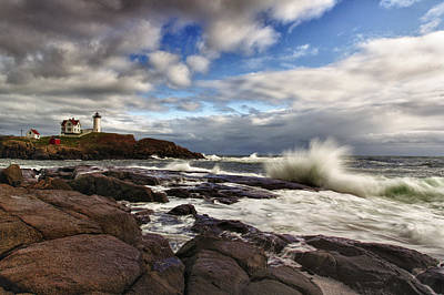 Cape Neddick Lighthouse Photograph - Cape Neddick Maine by Rick Berk