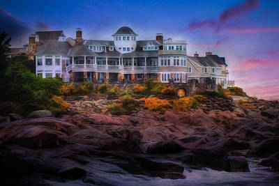 Print featuring the photograph Cape Neddick Maine Scenic Vista by Shelley Neff