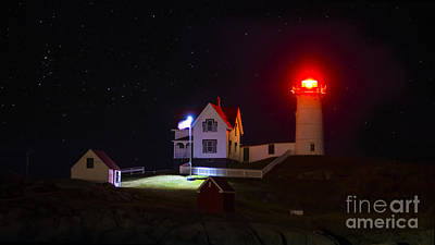 Photograph - Cape Neddick/nubble Light. York Beach, Maine. by New England Photography