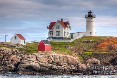 Cape Neddick Nubble Lighthouse I Print by Clarence Holmes