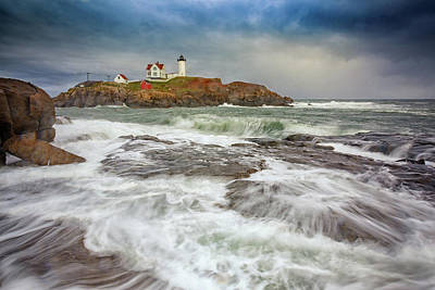Raging Photograph - Cape Neddick Storm by Rick Berk