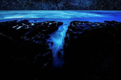 Cape Perpetua Blue Night Art Print
