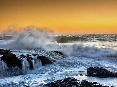 Flowing Wells Photograph - Cape Perpetua Series 3 by Michele James