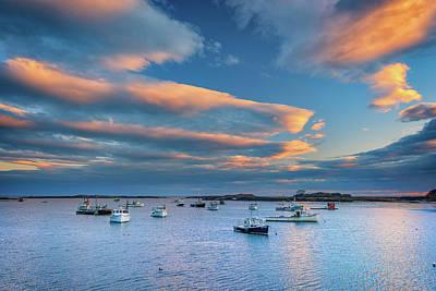 Cape Porpoise Harbor At Sunset Art Print