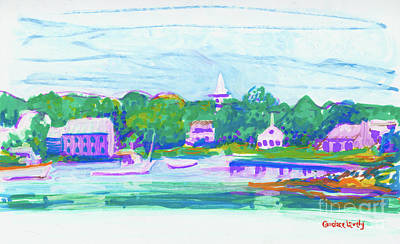 Painting - Cape Porpoise Harbor by Candace Lovely