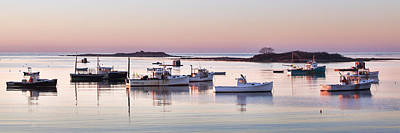 Cape Porpoise Harbor Panorama Art Print