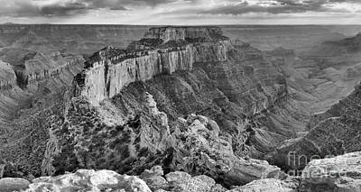 Photograph - Cape Royal Black And White by Adam Jewell