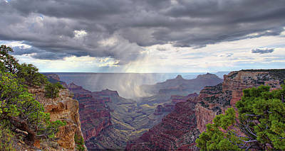Photograph - Cape Royal Squall by Peter Kennett