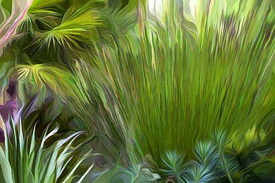 Cape Rush Grass Exploding Art Print