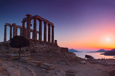 Cape Sounion Print by Emmanuel Panagiotakis