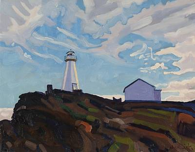 Neighbourhoods Painting - Cape Spear Light by Phil Chadwick
