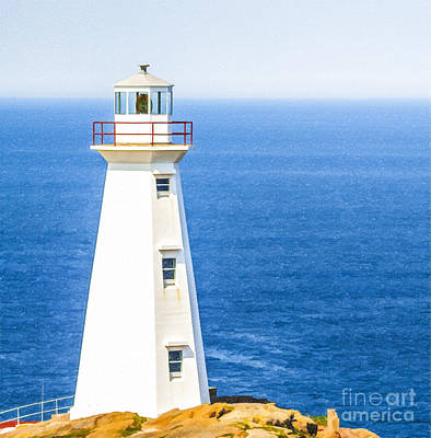 Digital Art - Cape Spear Lighthouse by Liz Leyden