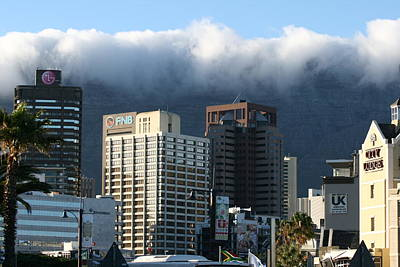 Art Print featuring the photograph Cape Town - Smoking Mountain by Andrei Fried
