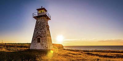 Photograph - Cape Tryon Light Sunset by Chris Bordeleau