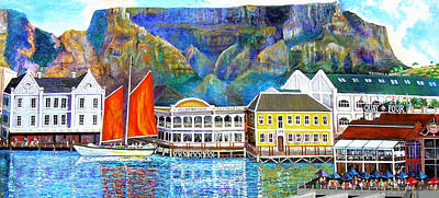Impressionistic Sailboats Painting - Cape Waterfront by Michael Durst