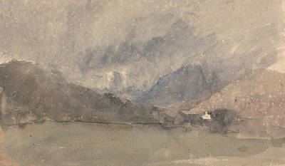 Painting - Capel Curig, Caernarvonshire, Wales by David Cox