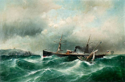 Stormy Weather Painting - Capella On A Stormy Sea by MotionAge Designs