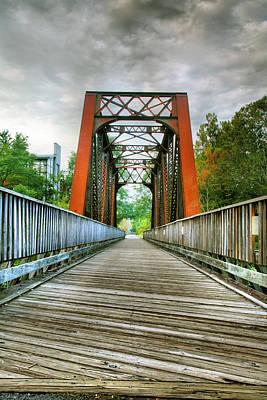 Framed Landscape Photograph - Caperton Trail And Bridge by Steven Ainsworth
