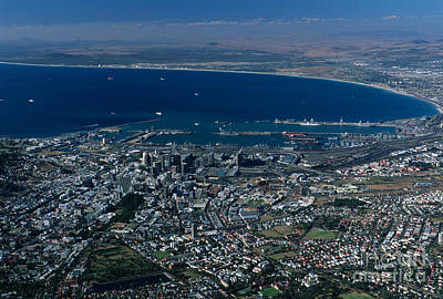 Capetown South Africa Aerial Art Print by Sandra Bronstein