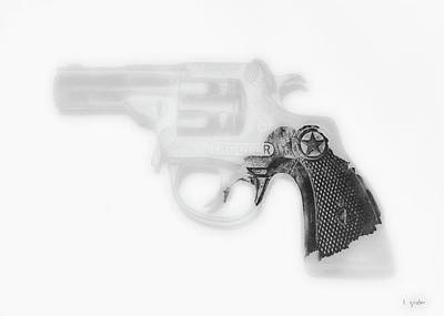 Photograph - Capgun Artifact Monocrhome Print by Tony Grider