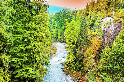 North Vancouver Photograph - Capilano River, Vancouver by Art Spectrum