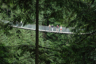 Photograph - Capilano Suspension Bridge North Of Vancouver, British Columbia. by Rob Huntley