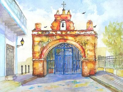 Puerto Wall Art - Painting - Capilla Del Cristo Puerto Rico by Carlin Blahnik CarlinArtWatercolor