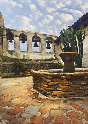 Photograph - Capistrano Fountain by Sharon Foster
