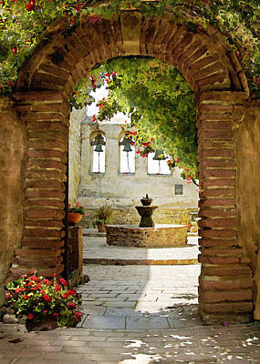 Photograph - Capistrano Gate by Sharon Foster
