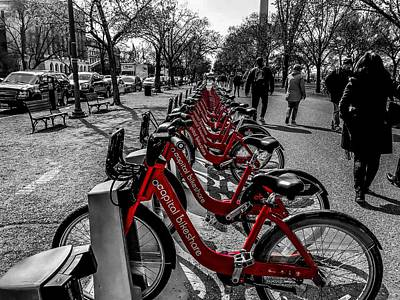 Photograph - Capital Bikeshare by Chris Montcalmo