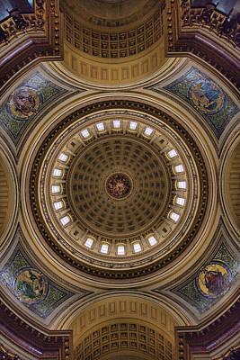 Photograph - Capital Ceiling by CA  Johnson