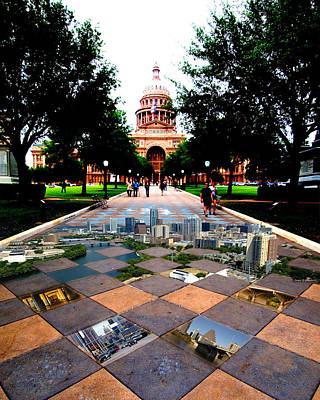 Capital City Collage Austin Texas Art Print