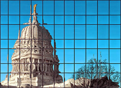 Photograph - Capital City Reflection by Todd Klassy