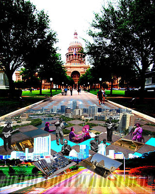 Capital Collage Austin Music Art Print